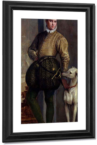 Portrait Of A Boy With A Greyhound By Paolo Veronese