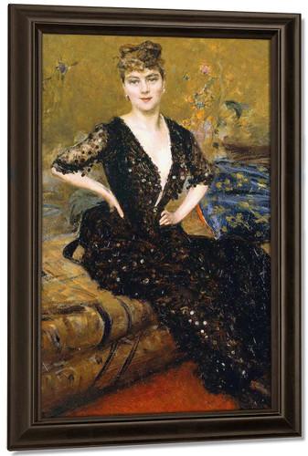 Portrait Of A Lady By Giovanni Boldini By Giovanni Boldini