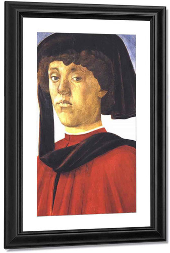 Portrait Of A Young Man By Sandro Botticelli
