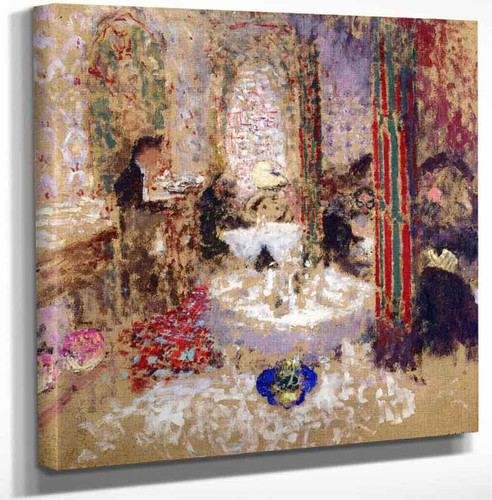 At The Restaurant By Edouard Vuillard Art Reproduction