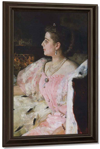 Portrait Of Countess Natalia Golovina. By Ilia Efimovich Repin By Ilia Efimovich Repin
