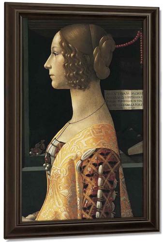 Portrait Of Giovanna Tornabuoni By Domenico Ghirlandaio
