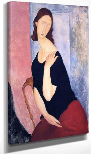 Portrait Of Jeanne Hebuterne By Amedeo Modigliani By Amedeo Modigliani