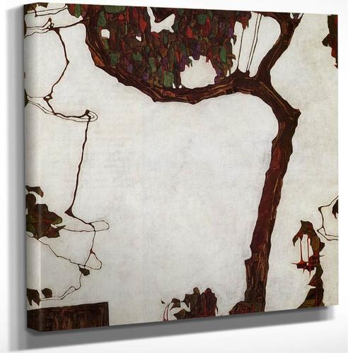 Autumn Tree With Fuchsias By Egon Schiele Art Reproduction