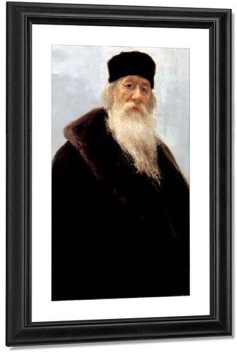 Portrait Of The Art Critic Vladimir Stasov. 2 By Ilia Efimovich Repin By Ilia Efimovich Repin