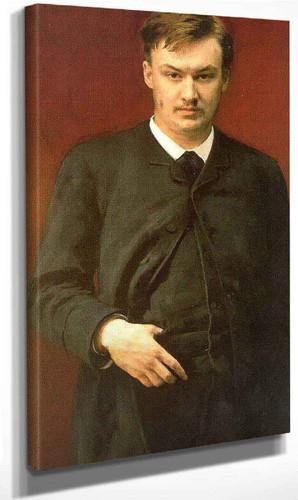 Portrait Of The Composer Alexander Glazunov. By Ilia Efimovich Repin By Ilia Efimovich Repin