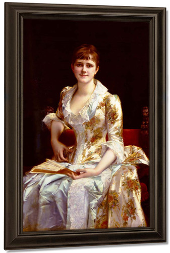 Portrait Of Young Lady By Alexandre Cabanel