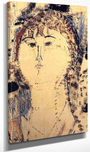 Rosa Porprina By Amedeo Modigliani By Amedeo Modigliani