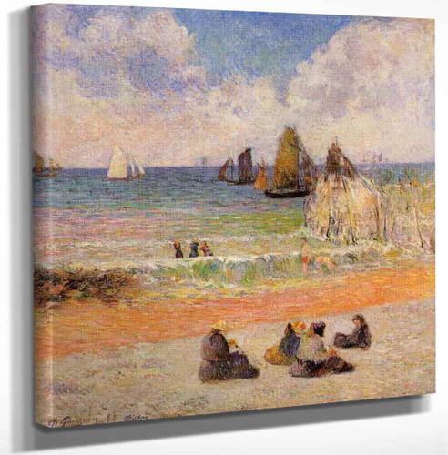 Bathing Dieppe By Paul Gauguin Art Reproduction