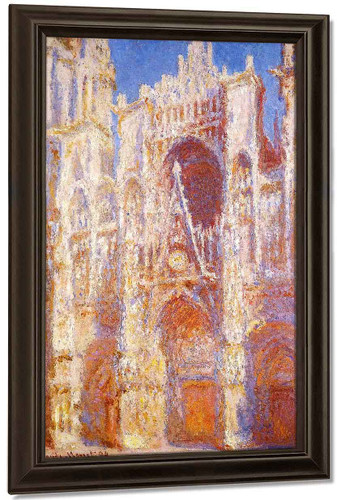 Rouen Cathedral, The Portal In The Sun By Claude Oscar Monet Art Reproduction