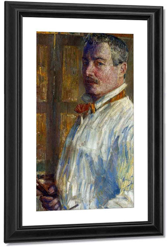 Self Portrait By Frederick Childe Hassam By Frederick Childe Hassam