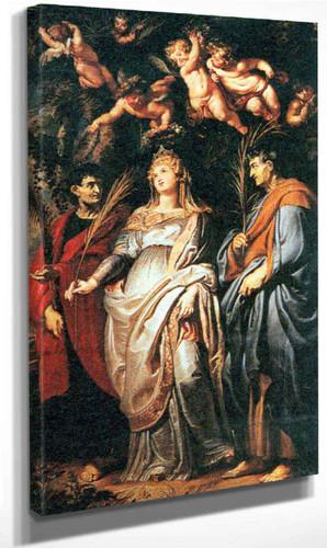 St Domitilla With St Nereus And St Achilleus By Peter Paul Rubens By Peter Paul Rubens