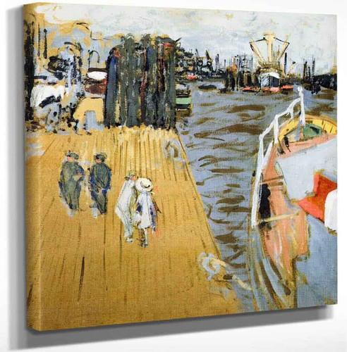 Boat At The Quayside Hamburg By Edouard Vuillard Art Reproduction