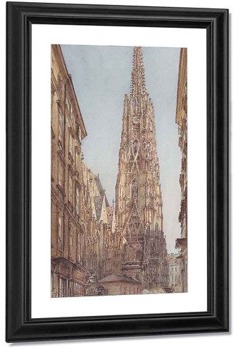 St. Stephen's Cathedral In Vienna By Rudolf Von Alt