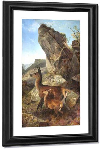 Startled Deer1 By Richard Ansdell