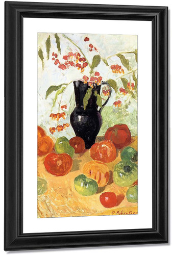 Still Life With Fruit And Vase Of Flowers By Paul Serusier