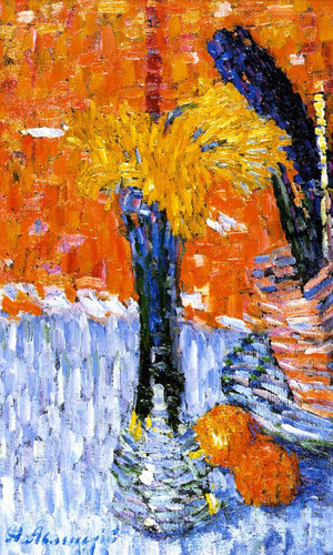 Still Life With Vase And Yellow Narcissi By Alexei Jawlensky By Alexei Jawlensky