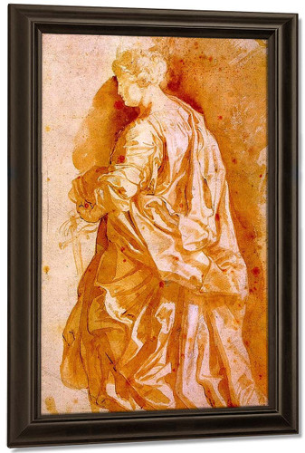 Study For A Standing Female Saint By Peter Paul Rubens By Peter Paul Rubens