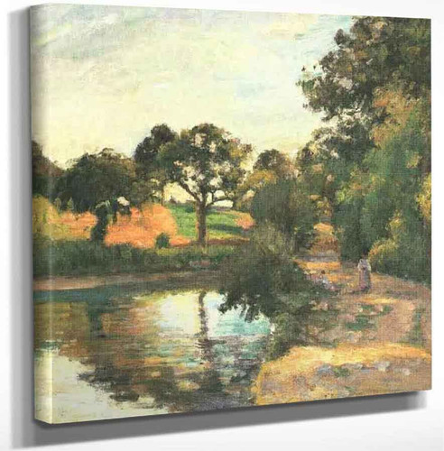 Bridge At Montfoucault By Camille Pissarro Art Reproduction