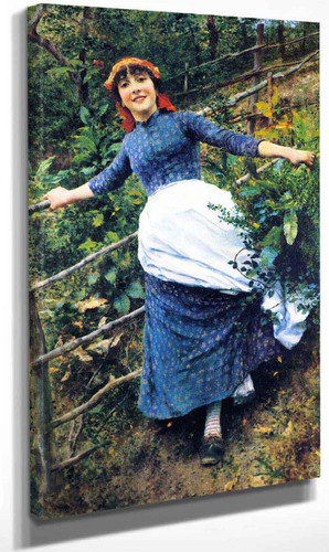 Tending The Garden By Daniel Ridgway Knight By Daniel Ridgway Knight