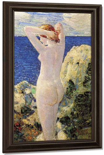 The Bather By Frederick Childe Hassam By Frederick Childe Hassam