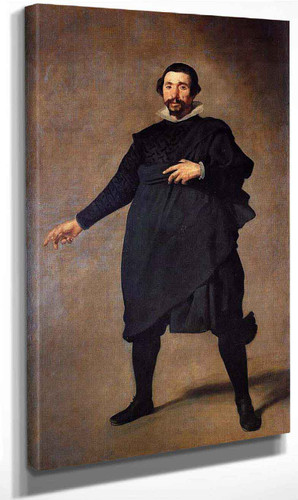 The Buffoon Pablo De Valladolid By Diego Velazquez