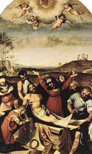 The Entombment Of Christ By Lorenzo Lotto