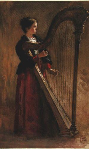 The Harpist By Jacob Henricus Maris