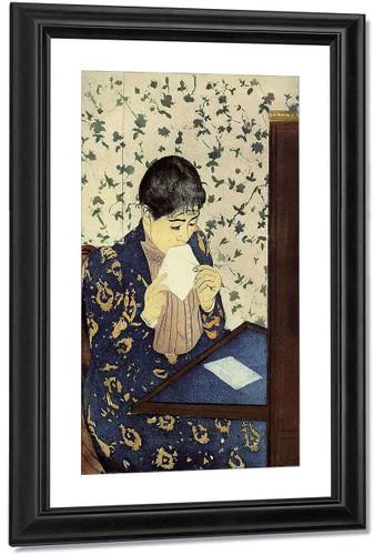 The Letter By Mary Cassatt By Mary Cassatt