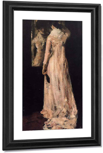 The Mirror By William Merritt Chase By William Merritt Chase