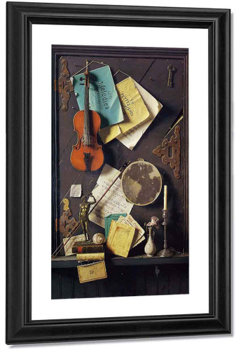 The Old Cupboard Door By William Michael Harnett By William Michael Harnett