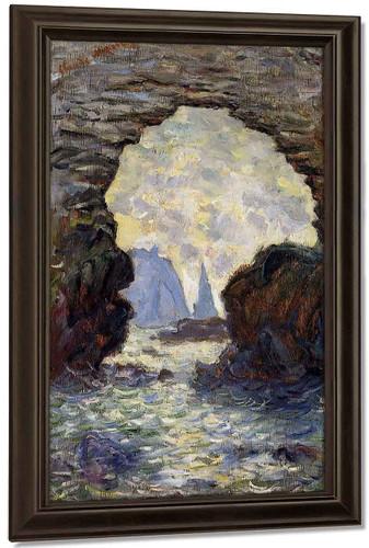 The Rock Needle Seen Through The Porte D'aumont By Claude Oscar Monet