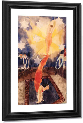 Two Acrobats In Red Tights By Charles Demuth By Charles Demuth
