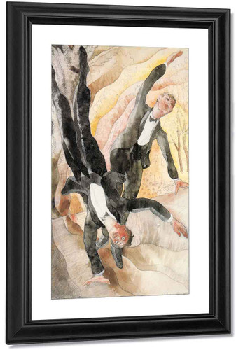 Two Acrobats By Charles Demuth By Charles Demuth
