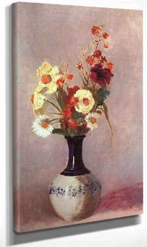 Vase Of Flowers5 By Odilon Redon By Odilon Redon