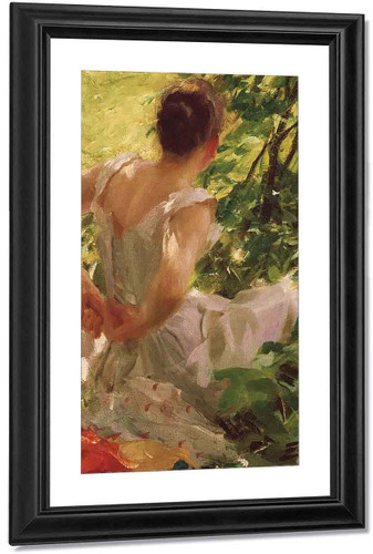 Woman Dressing By Anders Zorn