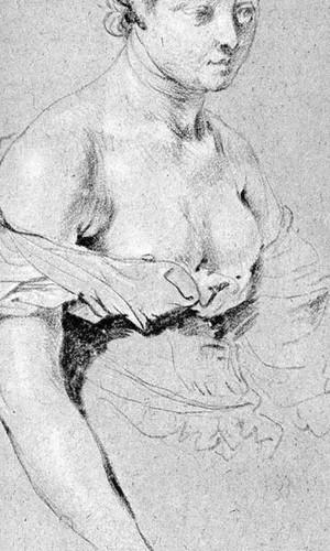 Woman Figure By Gabriel Metsu