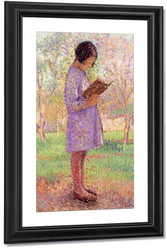 Young Girl Reading By Henri Martin By Henri Martin