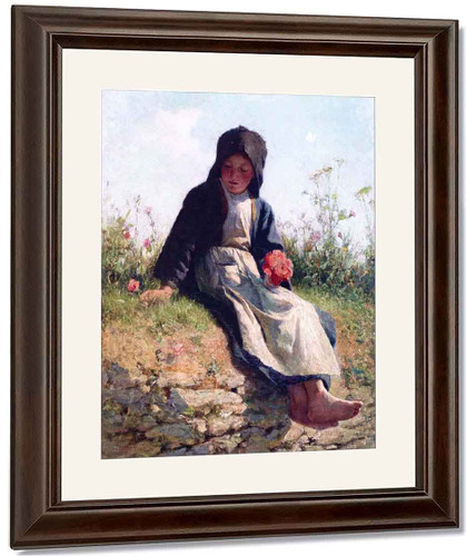 A Breton Girl By Edward Potthast By Edward Potthast