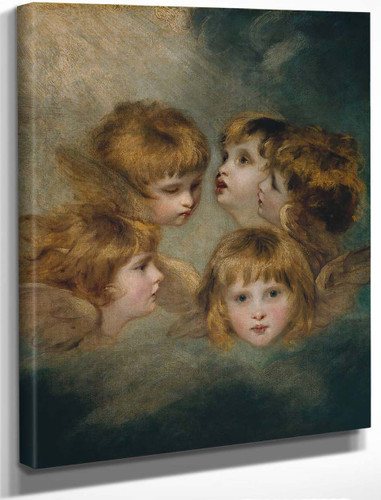 A Child's Portrait In Different Views By Sir Joshua Reynolds