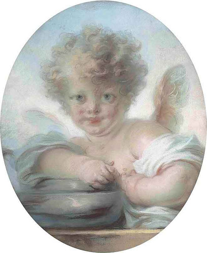 A Child In The Guise Of Cupid, Pastel By Jean Honore Fragonard By Jean Honore Fragonard