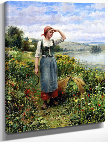 A Field Of Flowers By Daniel Ridgway Knight By Daniel Ridgway Knight