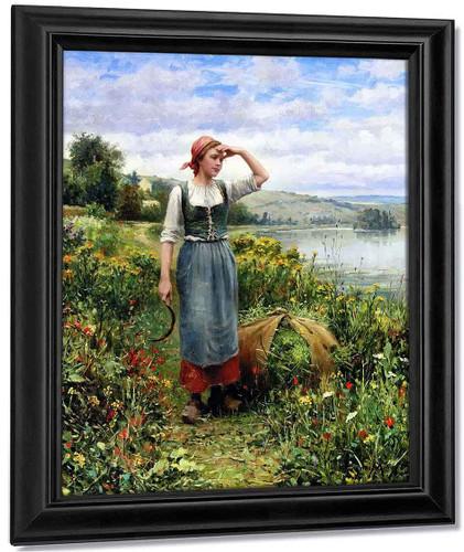 A Field Of Flowers By Daniel Ridgway Knight By Daniel Ridgway Knight