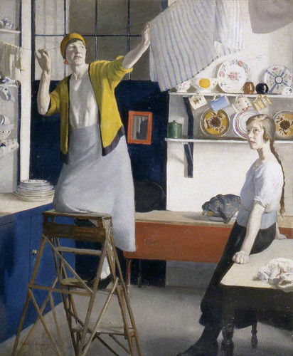 A Kitchen Interior By Harold Harvey