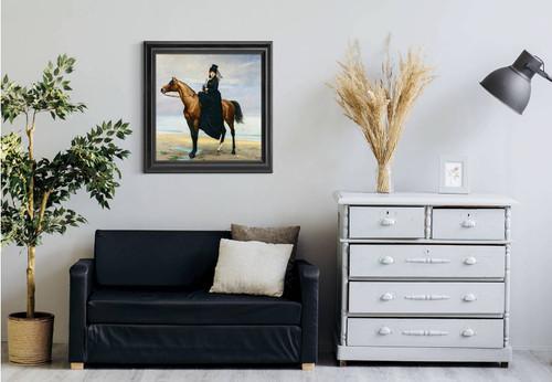 Equestrian Portrait Of Mademoiselle Croizette By Charles Auguste Emile Carolus Duran Art Reproduction