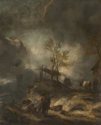 A Landscape With Dunes And Figures By Philips Wouwerman Dutch 1619 1668