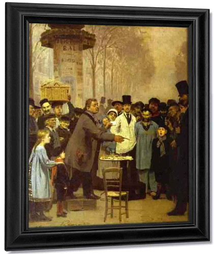 A Newspaper Seller In Paris. By Ilia Efimovich Repin By Ilia Efimovich Repin