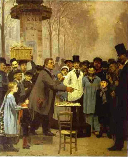 A Newspaper Seller In Paris. By Ilia Efimovich Repin By Ilia Efimovich Repin
