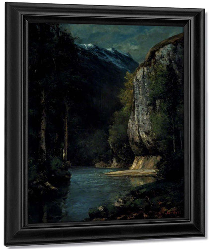 A River In A Gorge By Gustave Courbet By Gustave Courbet