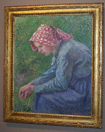 A Seated Peasant Woman By Camille Pissarro By Camille Pissarro